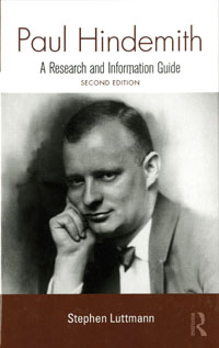 Cover of Paul Hindemith: A Research and Information Guide